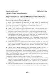 Implementation of a General Financial Transactions Tax