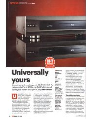 Hi-Fi Choice review (July2011) - Audio Tweak