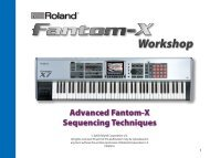 Advanced Fantom-X Recording Techniques - Roland UK