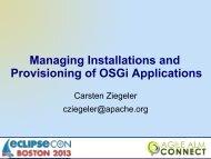 Apache Sling OSGi Installer - EclipseCon