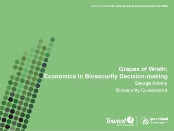 the loneliness of economics in biosecurity decisionmaking