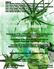 (MABE '10) Proceedings of the International Conference ... - Wseas.us