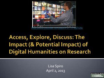 of Digital Humanities on Research