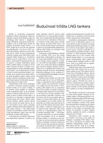 Budućnost tržišta LNG tankera