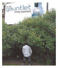 2008 Gauntlet Drinking Supplement - The Gauntlet