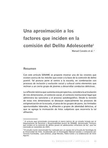 Una aproximación a los factores que inciden en - Sename