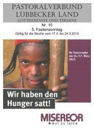 Nr 10 - 5 Fastensonntag - Pastoralverbund - Lübbecker Land