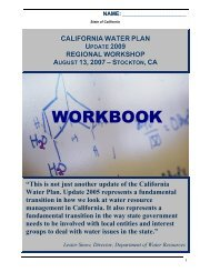 STOCKTON, CA - California Water Plan - State of California