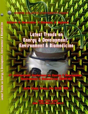 LATEST TRENDS on ENERGY & DEVELOPMENT ... - Wseas.us