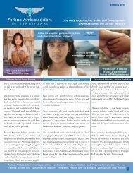 Latest Newsletter - Airline Ambassadors International