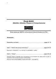 Étude MARC (Mobilité, Attitudes, Risques et Comportements)