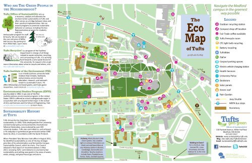 Tufts Medford Campus Map.Eco Map Tufts Office Of Sustainability Tufts University