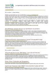 Istituto sperimentale per la cerealicoltura: www.cerealicoltura.it Sito ...