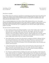 Farwell Elementary-Middle School Letter to Parents - Detroit Public ...