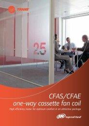 CFAS/CFAe one-way cassette fan coil - Trane