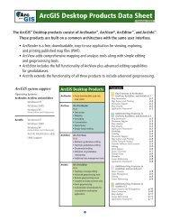 functionality matrix - Land Information and Computer Graphics Facility