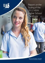 Report on the Scaling of the 2012 NSW Higher School Certificate