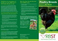 Poultry Breeds at Risk - Rare Breeds Survival Trust