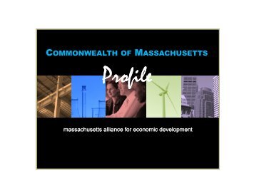 Massachusetts Competitiveness Profile - MassEcon