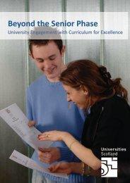 Beyond the Senior Phase - Universities Scotland