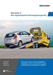 Blitzlader R Der repräsentative Fahrzeugtransporter ... - ALGEMA