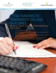 tying funding to community college outcomes - SuccessNC