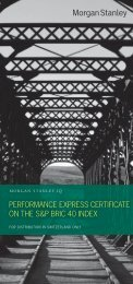 performance express certificate on the s&p bric 40 index