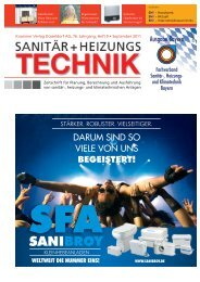 Sanitär+HeizungsTechnik, Ausgabe 09/2011 ... - Air-On AG