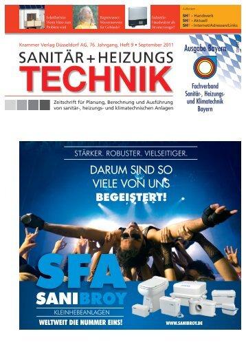 Sanitär+HeizungsTechnik, Ausgabe 09/2011 ... - Air-On AG
