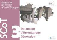 Document d'Orientations Générales - SCoT approuvé