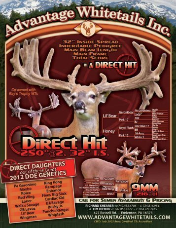 2012 Chupp PREMIER Part2.pdf - Whitetail Deer Farmer