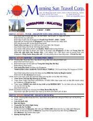 6 NGÀY – 5 ĐÊM NGÀY 01: 28/1/2012 - Morning Sun Travel
