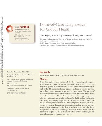 Point-of-Care Diagnostics for Global Health