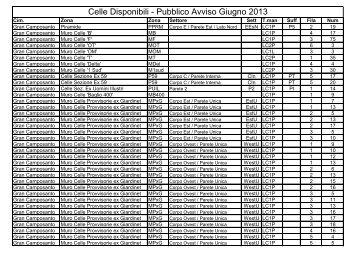 Celle Disponibili - Pubblico Avviso Giugno 2013 - Comune di Messina