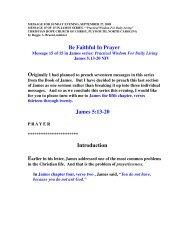 Be Faithful In Prayer - Christian Hope Church Home