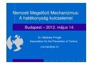 a prezentáció anyaga - Magyar Helsinki Bizottság