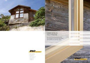 Gawo winLux HoLz-Fenster - Reist + Glaus Holzbau AG