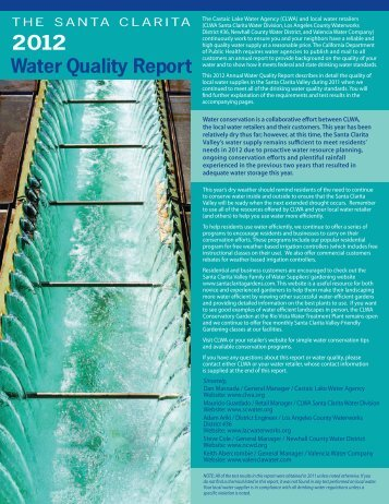 2012 Water Quality Report - Department of Public Works - Los ...