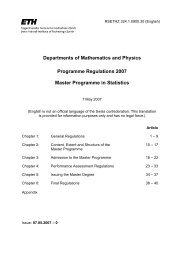MSc Muster-Reglement - Seminar für Statistik - ETH Zürich