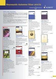 Télécharger le catalogue - Schott Music