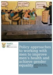 Policy approaches to working with men to improve men's health and ...