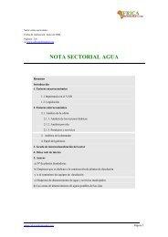 NOTA SECTORIAL AGUA - Agencia Insular de Energía de Tenerife