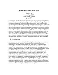 Aerosol and Climate in the Arctic