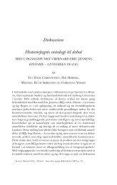 historie – livsverden og fag - Historisk Tidsskrift