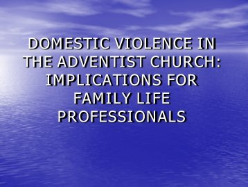 domestic violence in the adventist church - Southern Adventist ...