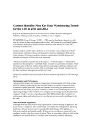 Gartner Identifies Nine Key Data Warehousing ... - Computerworld