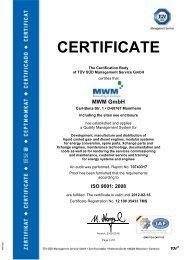 Certification ISO 9001 - LT