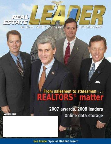 From salesmen to statesmen, REALTORS® matter - Mississippi ...