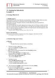 11. Sonntag im Jahreskreis Lesejahr A
