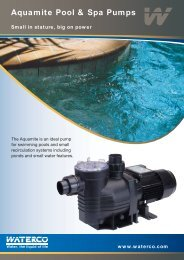 Aquamite Pool & Spa Pumps - The Swimming Pool Store